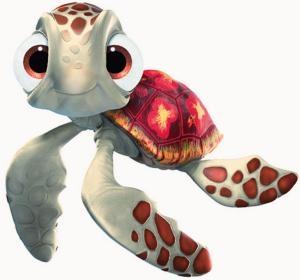 Gicler la tortue de trouver nemo